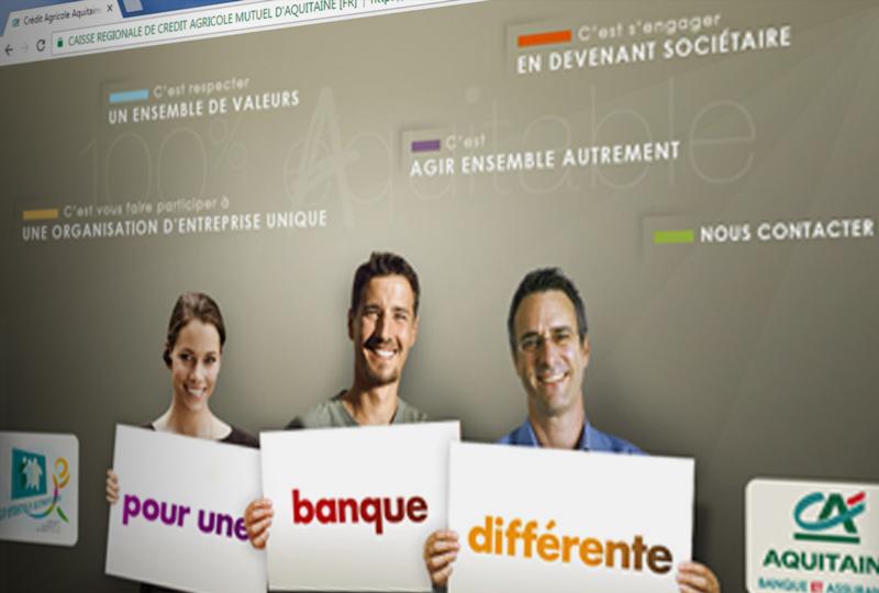Site Internet Crédit Agricole d'Aquitaine
