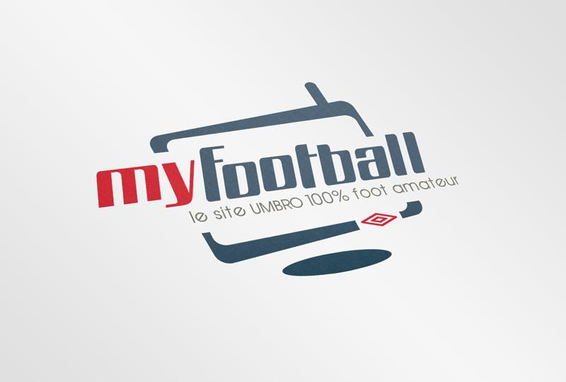 Logo myfootball par Umbro