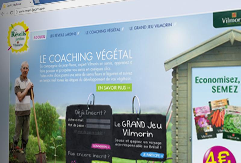 Site internet Les Réveils jardins par Vilmorin