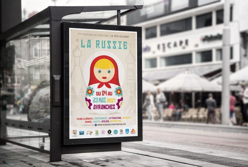 """Affiche festival 2017 """"La tête ailleurs"""""""