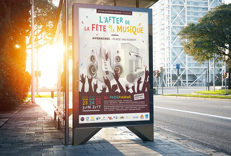 Affiche festival l'After de la fête de la musique par Music Easy