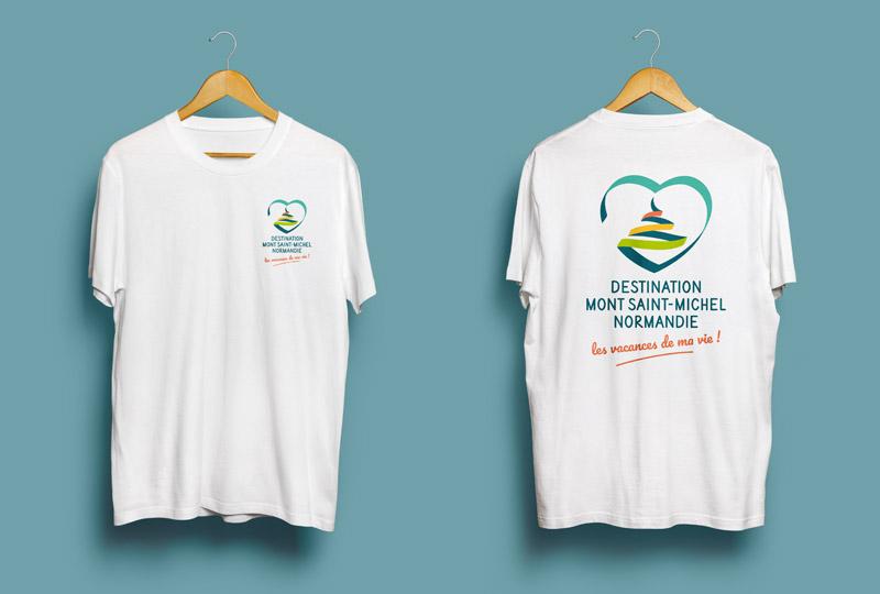 T-shirt Office de Tourisme Mont Saint-Michel - Normandie